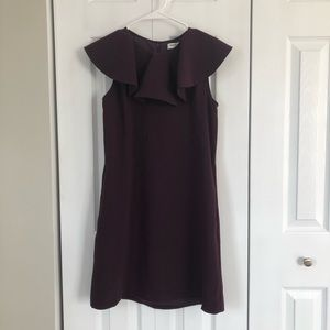 Amanda Uprichard New York Purple Ruffle Neck Dress